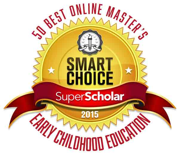 Badge 50 Best Online Masters in Early Childhood Education Programs 2015