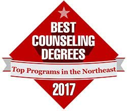 Badge Best Counseling Degrees Northeast 2017