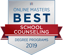 Badge for best online school counseling 2019