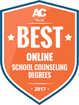 Badge Best Online School Counseling Degrees 2017