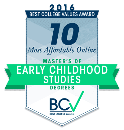 Badge Most Affordable Master Early Childhood 2016