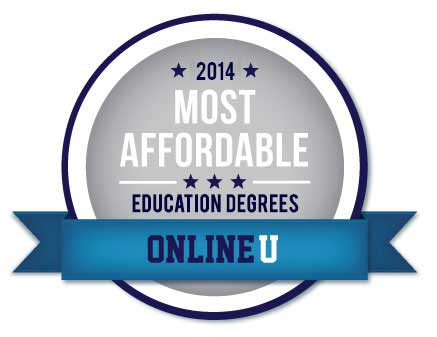 Badge Most Affordable Education Degrees - OnlineU 2014